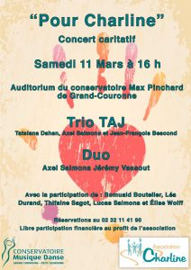 Concert pour Charline @ Conservatoire Max Pinchard | Grand-Couronne | Normandie | France